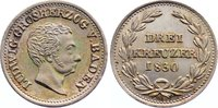 3 Kreuzer 1830 Baden-Durlach Ludwig 1818-1830. feine Patina, fast Stemp... 70,00 EUR