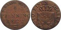 Cu Pfennig 1822  D Brandenburg-Preußen Friedrich Wilhelm III. 1797-1840... 25,00 EUR  +  4,50 EUR shipping