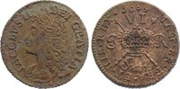 Messing 6 Pence 1689 Irland Jakob II. von Großbritannien 1685-1690. Bel... 115,00 EUR  +  4,50 EUR shipping