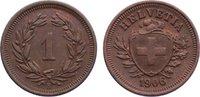 1 Rappen 1906  B Schweiz-Eidgenossenschaft  vorzüglich  30,00 EUR  +  4,50 EUR shipping