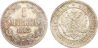 1 Markka 1865 Finnland Alexander II. von Rußland 1855-1881. fast Stempe... 475,00 EUR free shipping