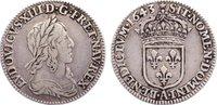 1/12 Écu, deuxième poincon de Warin 16 1643  A Frankreich Ludwig XIII. ... 75,00 EUR  +  4,50 EUR shipping