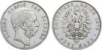 5 Mark 1875  E Sachsen Albert 1873-1902. kl. Randfehler, fast sehr schön  40,00 EUR  +  4,50 EUR shipping