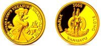 Vanuatu 50 Vatu 2005 PP 1/25 Unze Goldmnz...