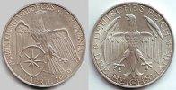 3 Mark 1929 A Weimarerer Republik Silbermünze - Waldeck vz  124,90 EUR  Excl. 9,95 EUR Verzending