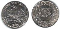 Portugal 100 Escudos Geschichte der Seefahrt - Kanarische Inseln - Segelschiff - Schiffe