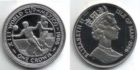Isle of Man 1 Crown 1986 PP Fussball WM 19...