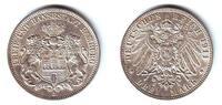 3 Mark 1911 J Hamburg Silbermünze - Wappen von Hamburg vz/st  59,90 EUR  excl. 6,95 EUR verzending