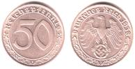 50 Pfennig 1938 J Drittes Reich 50 Reichspfennig f.st  129,90 EUR  Excl. 9,95 EUR Verzending