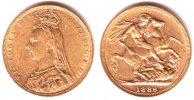 Australien 1 Sovereign 1889 M vz Queen Vic...