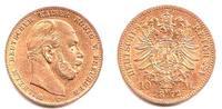 10 Mark 1872 C Preussen Kaiser Wilhelm I.(1861-1888) ss+  249,00 EUR  Excl. 9,95 EUR Verzending