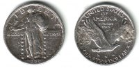 USA 1 Quarter - 1/4 Dollar 1920 ss 1 Quart...