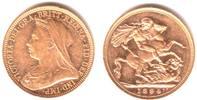 1 Sovereign 1894 M Australien Queen Victoria mit Witwenschleier und Dia... 379,00 EUR  excl. 9,95 EUR verzending