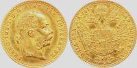 1 Dukat 1915/NP Österreich Kaiser Franz Joseph mit Lorbeerkranz st  168,00 EUR  Excl. 9,95 EUR Verzending