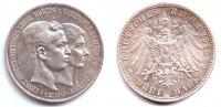 3 Mark 1915 A Braunschweig Hochzeit Ernst August + Victora Luise  vz/st  219,00 EUR  Excl. 9,95 EUR Verzending
