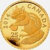 25 Cents 2014 Kanada Streifenhörnchen - Chipmunk PP mit Box + Zertifikat  79,00 EUR  Excl. 6,95 EUR Verzending
