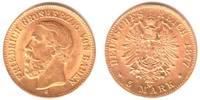 5 Mark 1877 G Baden Friedrich I. (1852-1907) gutes vz  798,00 EUR  Excl. 9,95 EUR Verzending