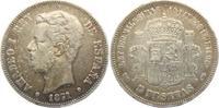 5 Pesetas 1871 DEM Spanien Amadeo I. (1871 - 1873) ss  59,90 EUR  Excl. 6,95 EUR Verzending