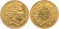 20 Francs 1851 A Frankreich Cereskopf vz+  298,00 EUR  excl. 9,95 EUR verzending