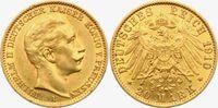 20 Mark 1910 A Preussen Kaiser Wilhelm II. ss/Rf.  279,00 EUR  Excl. 9,95 EUR Verzending