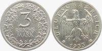 3 Mark 1933 G Weimar/Drittes Reich 3 Mark Kursmünze vz+  4980,00 EUR