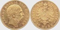 10 Mark 1874 E Sachsen König Albert von Sachsen vz/st  3980,00 EUR