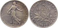 2 Francs 1920 Frankreich Saerin ss+  9,95 EUR