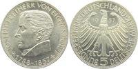 5 Mark 1957 J Deutschland Eichendorff bankfrisch  189,00 EUR