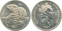 5 Pence 1989 Neuseeland Leguan - Echse unc.  4,95 EUR  +  3,95 EUR shipping