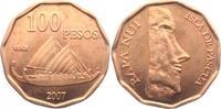 100 Pesos 2007 Chile - Osterinseln Moai - Steinfiguren - Vaka - Katamar... 13,95 EUR