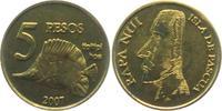 5 Pesos 2007 Chile - Osterinseln Moai - Steinfiguren - Fische - Plattfi... 14,95 EUR