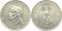 Drittes Reich 2 Reichsmark 1934 F vz Friedrich von Schiller 54,00 EUR  plus 6,95 EUR verzending