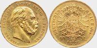 10 Mark 1872 A Preussen Kaiser Wilhelm I. pfr./Rf.  189,00 EUR  Excl. 9,95 EUR Verzending