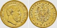 10 Mark 1888 A Hessen Ludwig IV. (1877-1892) f.vz  1190,00 EUR  Excl. 14,95 EUR Verzending