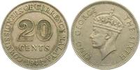 20 Cents 1948 Malaysia George VI. (1936 - 1952) vz  7,95 EUR  +  3,95 EUR shipping