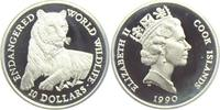 10 Dollars 1990 Cook-Inseln Gefährdete Tierwelt - Tiger PP  9,95 EUR  +  3,95 EUR shipping