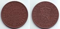 2 1/2 Cents 1945 Niederländisch Indien Wilhelmina (1890 - 1948) vz-st  9,95 EUR  +  3,95 EUR shipping