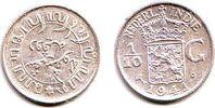 1/10 Gulden 1941 Niederländisch Indien Wilhelmina (1890 - 1948) st  9,95 EUR  +  3,95 EUR shipping