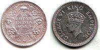 1/4 Rupie 1943 Indien George VI. (1936 - 1952) vz-st  19,95 EUR  +  6,95 EUR shipping