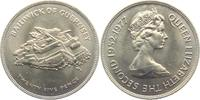 25 Pence 1977 Guernsey 25. Regierungsjubiläum st  4,95 EUR  +  3,95 EUR shipping