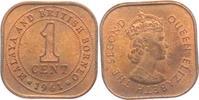 1 Cent 1961 Malaysia & Brit. Borneo Elisabeth II. (seit 1952) vz  4,00 EUR  +  3,95 EUR shipping