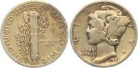1 Dime 1941 D USA 1 Dime - Mercury (1916 - 1945) ss  5,00 EUR  +  3,95 EUR shipping