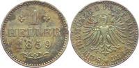 1 Heller 1859 Frankfurt leicht fleckig vz - RF - Fassungsspuren  19,00 EUR  +  6,95 EUR shipping