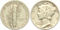 1 Dime 1942 D USA 1 Dime - Mercury (1916 - 1945) ss  4,95 EUR  +  3,95 EUR shipping