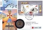 2 Euro auf nummeriertem Numisbrief 2008 Malta Malteser Kreuz st  4,95 EUR  +  3,95 EUR shipping