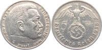 5 Reichsmark 1938 A Drittes Reich Paul von Hindenburg - mit Hakenkreuz ss  12,00 EUR  +  6,95 EUR shipping