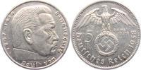 5 Reichsmark 1938 A Drittes Reich Paul von Hindenburg - mit Hakenkreuz vz  15,00 EUR  +  6,95 EUR shipping