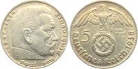 5 Reichsmark 1938 D Drittes Reich Paul von Hindenburg - mit Hakenkreuz ss  9,95 EUR  +  3,95 EUR shipping