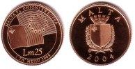 Malta 25 Lm Goldmünze - Central Bank of Malta