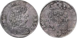 2/3 Taler 1683  BH Brandenburg-Preußen Fri...
